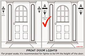 front door lightsFOCAL POINT STYLING Exterior Home Improvements with Black