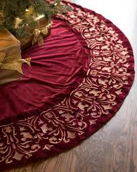 close esc wine forest green luxe embroidered velvet tree skirt red velvet tree skirt o79