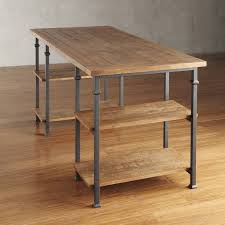 add modern rustic form and organized function to your home oroffice space with this storage desk by tribecca home crafted ofmetal and oak with a weathered