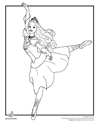 Small Picture Barbie Coloring Pages Barbie 12 Dancing Princesses Coloring Page
