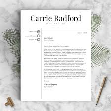 Classic Professional Resume Template The Carrie Landed Design