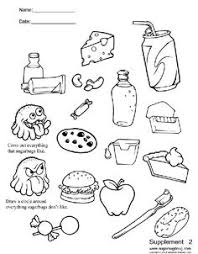Small Picture List Healthy Food Coloring Page Kids Coloring Pages Pinterest