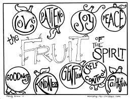Print fruits coloring pages for free and color our fruits coloring! Fruit Of The Spirit Coloring Pages Free Printables