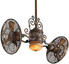 antique ceiling fans. Traditional Gyro Twin Ceiling Fan In Belcaro Walnut Finish Antique Fans G