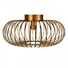 antique brass metal flush mount ceiling