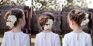 Flower Hair Style braids with flowers cute girls hairstyles 7503 by wearticles.com
