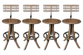 furniture brown wooden bar stool with back using black iron ring and foot rest with black mini bar home wrought