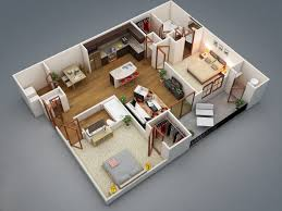 Modern Small Two Bedroom Apartment Floor Plans Small Two Bedroom - Two bedroomed house plans