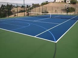 Backyard Basketball Court Installation  Home Outdoor DecorationBackyard Tennis Court Cost