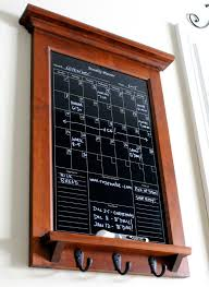 wall decor hardwood maple with black dry erase calendar family kitchen or office organizer monthly planner