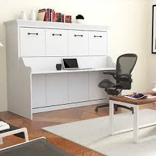 wall bed with desk. Melbourne Full Wall Bed With Desk Combo, White \