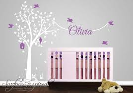 nursery wall decal with name new tree wall decals for nursery