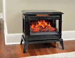 Comfort Smart Jackson Black Infrared Electric Fireplace Stove With Infrared Fireplace Heater