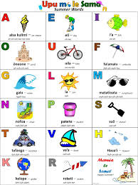 Samoan Fish Chart Samoan For Kids Samoan Alphabet Free Printable Activity