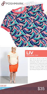Lularoe Colorful Palm Leaves Liv T