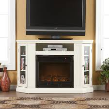 corner fireplace tv stand white electric fireplace with storage