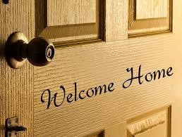letters for front doorWelcome Home Door Decal vinyl letters for Front Door words