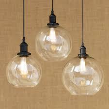 spherical lighting. Modern Spherical Glass Shade Pendant Lamp LED Edison Bulb Light Fixture For Kitchen Lights/ Lighting U