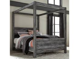 Benchcraft Baystorm Queen Canopy Bed in Gray Finish | Virginia ...