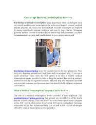 Fast Chart Medical Transcription Cardiology Medical Transcription Services By Medical