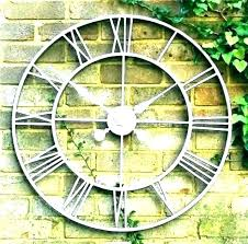 large outdoor wall clock extra clocks decorations oversized target new black uk exterior