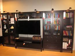 dark wood entertainment center ikea with lighting atop and bookcases of terrific entertainment centers ikea designs with and