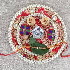 Rakhi Thali Design Designer Rakhi Puja Thali Online