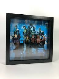 details about custom lego minifigure display frame the watchmen limited edition