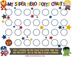 Potty Training Sticker Chart Dorky Doodles