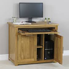 london oak large pedestal home. london solid oak hideaway home office computer desk large pedestal a