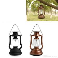 solar cells panel lantern camp 7 led bright light lamp outdoor hand crank portable outdoor light hiking camping light red black bronze shell by
