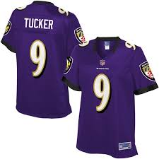 Women's Team Pro Tucker Baltimore - Color Jersey Justin Line Purple Ravens