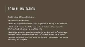 Formal Invitation Example Structure Invitation Templates