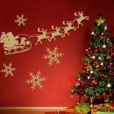 Wonderful Wall Decorating Ideas For Christmas Christmas Wall Decorations  Home Design Ideas