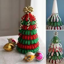 Alternative Christmas Tree Styrofoam Cone  Ribbon  Pins Foam Christmas Tree Crafts