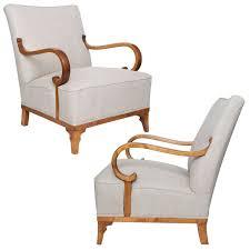 pair of elegant swedish art deco chairs by erik chambert 1930