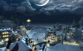 christmas night wallpaper. Wonderful Christmas Christmas Scenery  Night With Wallpaper