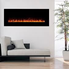 northwest wall mounted 54 inch electric fireplace with remote
