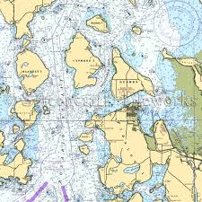 Washington Guemes Island Anacortes Hat Island Nautical Chart Decor