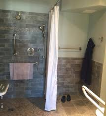 accessible bathroom includes shower toilet sink