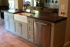 Pioneering Kitchen Island With Sink And Dishwasher Plans Rottypup