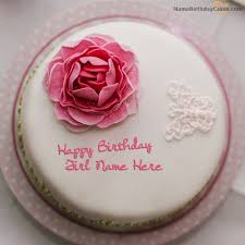 Write Name On Rose Birthday Cake For Girls Happy Birthday Wishes