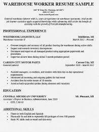 resume examples for warehouse worker warehouse worker resume samples ipasphoto