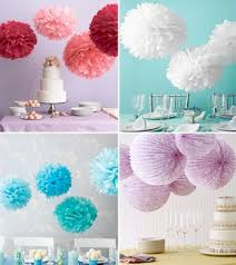 Paper Puff Ball Decorations Best Wedding Paper Decorations Shades Of Turquoise And White Paper