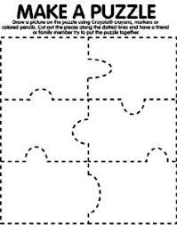 Small Picture Puzzle Pieces coloring page could cut out on card board and we