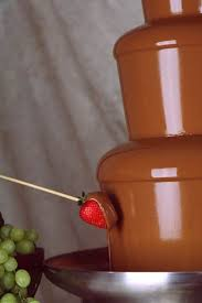 Image result for strawberries and chocolate fountain