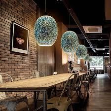 romantic 3d colored glass shade bar pendant lights