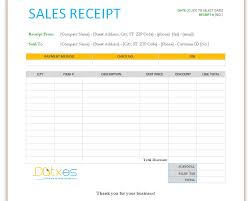 Excel Sales Receipt Template Free Under Fontanacountryinn Com