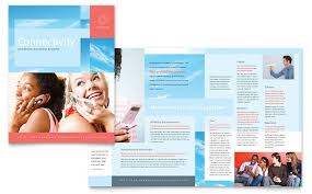 Company Brochure Example Communications Company Brochure Template Design