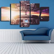 cockpit cabin 5 piece canvas wall art on interior design canvas wall art with cockpit cabin 5 piece canvas wall art vigor and whim